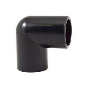 "1/2"" PVC Elbow - Black Furniture Grade"