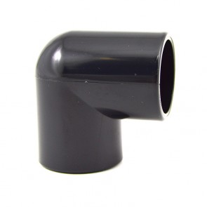 "3/4"" PVC Elbow - Furniture Grade Black"
