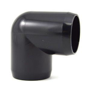 "1"" PVC 90 Degree Elbow - Black Furniture Grade"