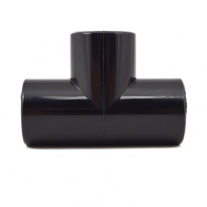 "1/2"" PVC Tee - Black Furniture Grade"