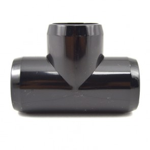 "1"" PVC Tee Fitting - Black Furniture Grade"