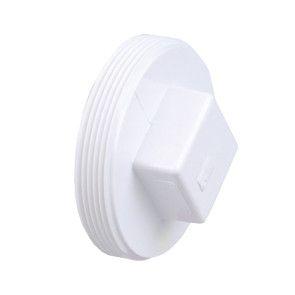 """4"""" DWV PVC Cleanout Plug - Raised Nut D106-040"""