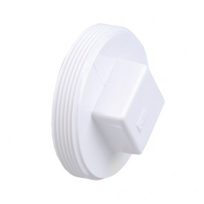 "1-1/4"" DWV PVC Cleanout Plug - Raised Nut D106-012"