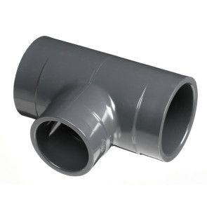 """8"""" x 8"""" x 6"""" Sch 80 PVC Reducing Tee - Socket (801-585)"""