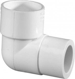 "3/4"" x 1/2"" Sch 40 PVC Reducing 90 Elbow Soc 406-101"