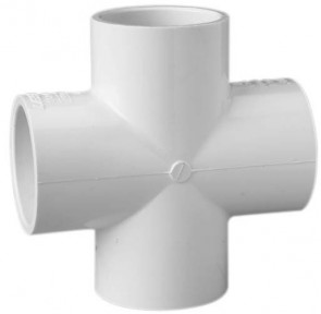 "3/4"" Schedule 40 (SxSxSxS) PVC Cross 420-007"