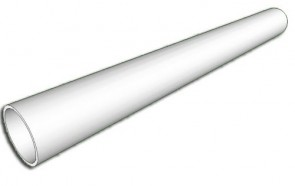 "16"" Schedule 40 White PVC Pipe 4004-160AB - 5ft"