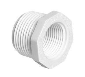 "1"" x 1/2"" Sch 40 PVC Reducer (T.T.) Bushing Mipt x Fipt 439-130"