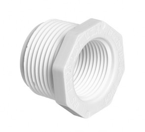 "3/4"" x 1/4"" Sch 40 PVC Reducer (T.T.) Bushing Mipt x Fipt 439-098"