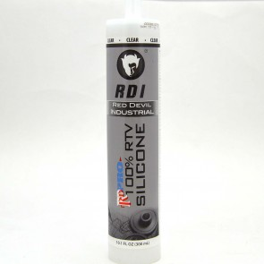 Red Devil Industrial 100% RTV Silicone Clear 10.1 fl oz.