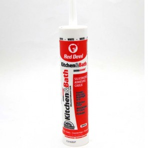 Red Devil Duraguard Kitchen & Bath Siliconized Adhesive Caulk White 10.1 fl oz.