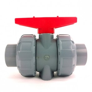 "1-1/2"" CPVC True Union Ball Valve - Socket / Viton"