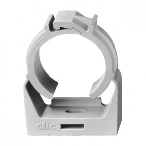 "3/4"" IPS CLIC® Light Gray Pipe Clamp"