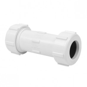 White PVC Compression Coupling