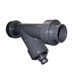 Gray PVC Industrial Y-Strainer