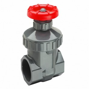 "3/4"" PVC Threaded Gate Valve Spears 2021-007"