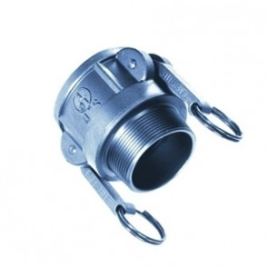 304 SS Fitting B Style, Female Coupler/Male Thread