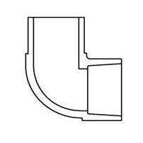 "3/4"" Clear PVC 90 Street Elbow 409-007L"