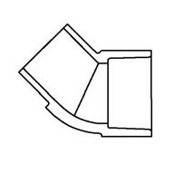 "3/4"" Clear PVC 45 Street Elbow 427-007L"
