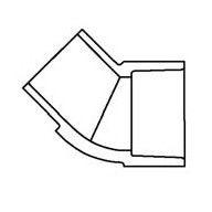"1/2"" Clear PVC 45 Street Elbow 427-005L"