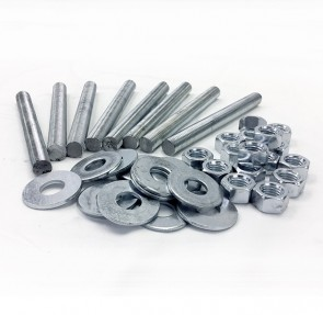"Stainless Steel Stud Pack for 10"" & 12"" PVC or CPVC Flanges"