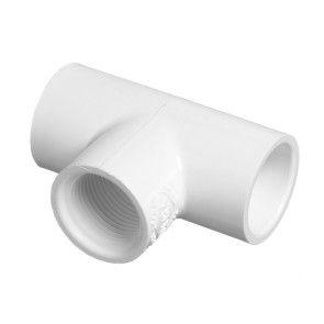 "1-1/4"" Schedule 40 PVC Tee - Socket x Socket x FIPT (402-012)"