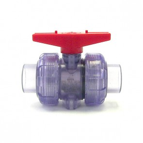 "3/4"" Clear PVC True Union Ball Valve"