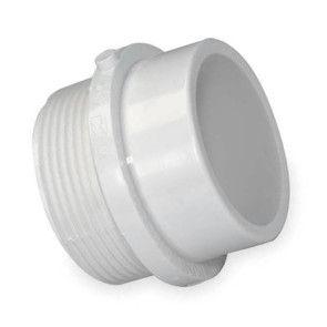 "1-1/2"" DWV PVC Trap Adapter - Male Spg x SLIP D103-015"