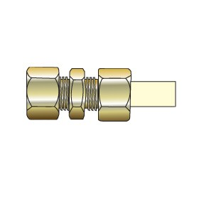 """1/2"""" CTS CPVC Transition Union with Brass Compression TUC-005"""