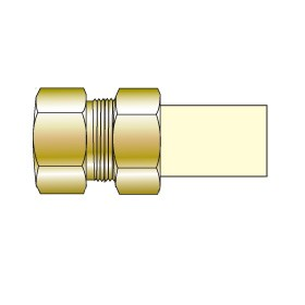 """3/4"""" CTS CPVC Transition Union with Brass Female Thread TUF-007"""