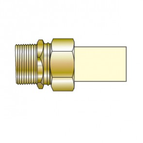 """1/2"""" CTS CPVC Transition Union with Brass Male Thread TUM-005"""