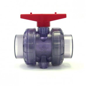 "2"" Clear PVC True Union Ball Valve"