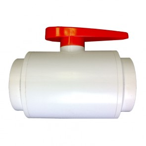 "1-1/4"" DELUXE Compact PVC Ball Valve - White/Threaded"