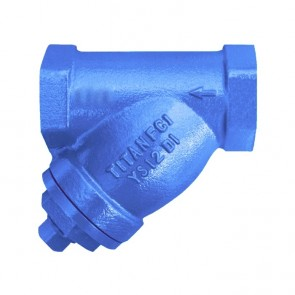 "1/4"" Titan Ductile Iron Y-Strainer - Threaded (YS12I0025)"