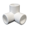 "1/2"" 3-Way PVC Furniture Fitting - Side Elbow"