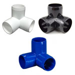 3-way PVC Furniture Fitting