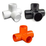4-way PVC Furniture Fittings