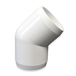 Furniture Grade PVC 45 Degree Elbows