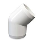 Furniture Grade PVC 45 Degree Elbows